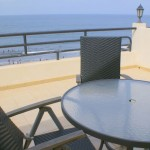 The balconies with ocean view